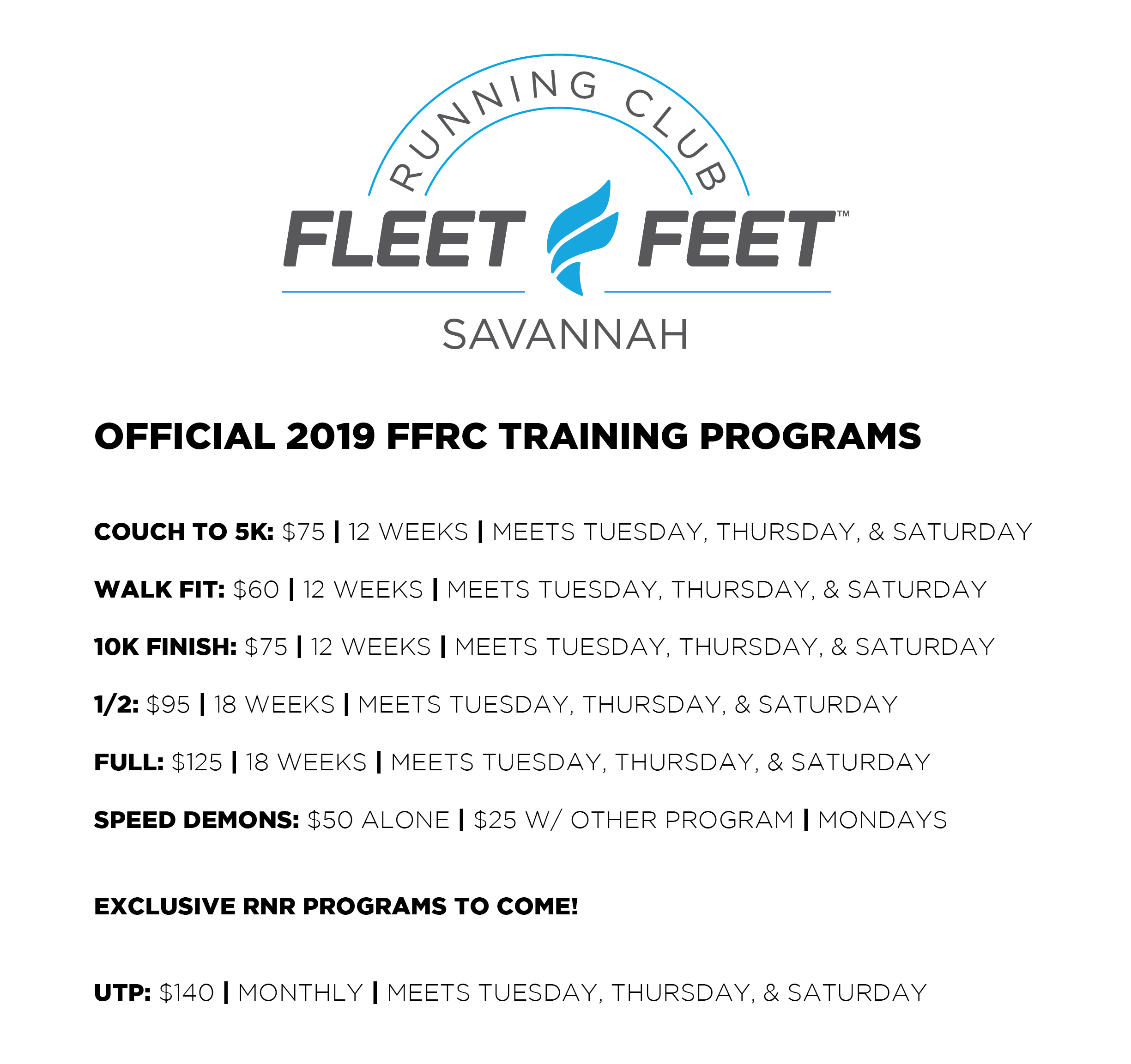 2019 FFRC TRAINING PROGRAMS